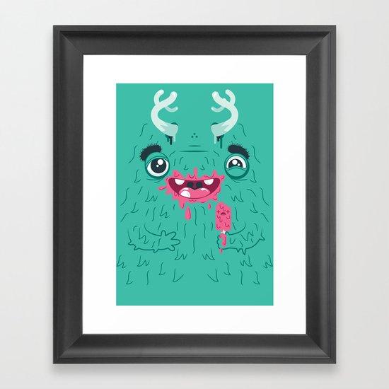 I Scream Monster Framed Art Print