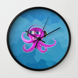 DJ Octopus Wall Clock