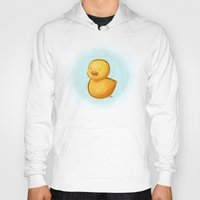 duck Hoodies featuring duck by wonderday