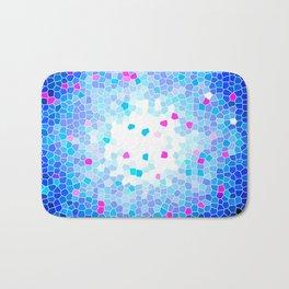 Royal Blue Crystal Mosaic Pattern Bath Mat