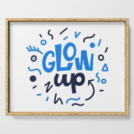 GLOW UP! Lettering. Serving Tray