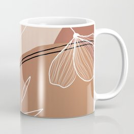 Abstract Peach Coffee Mug