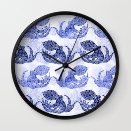 Mythic Octopus - Indigo Wall Clock