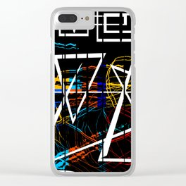Electronic Meditation Pt.1 Clear iPhone Case