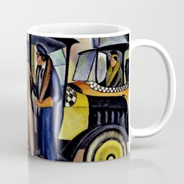 1924 American Masterpiece 'Taxicabs' by Fred Gardner Coffee Mug