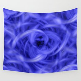Background Flames Blue Wall Tapestry