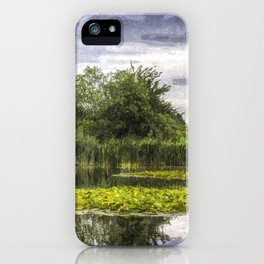 Lily Pond Art iPhone Case