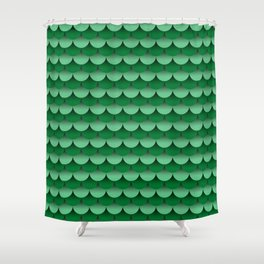 Scales Fade Pattern (Mermaid, Dragon, Fish) Shower Curtain