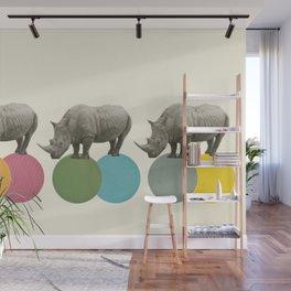 Rambling Rhinos Wall Mural