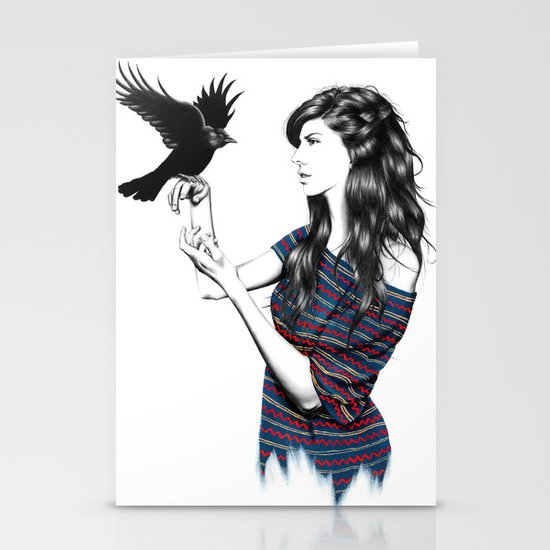 Dark Wings Stationery Cards