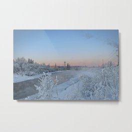 Winter afternoon on the Chena River Metal Print