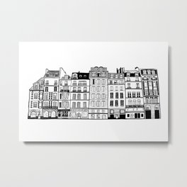Buildings in Paris Metal Print
