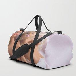Girls in Pink Duffle Bag