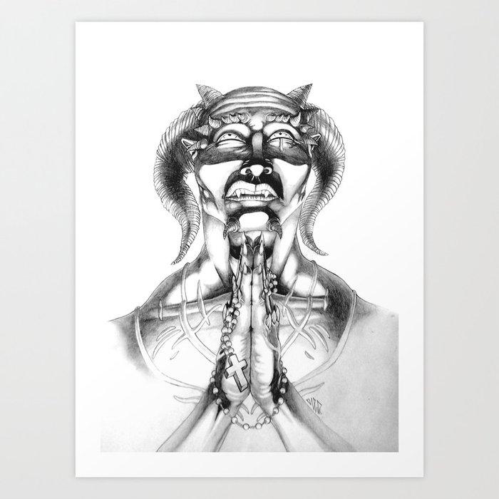 Prayer (Pencil) Art Print