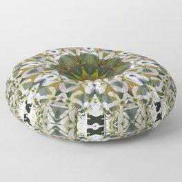 Lacy Serviceberry mandala 0033 k11 Floor Pillow