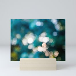 Out of focus bokeh lens effect background with copy space Mini Art Print