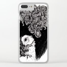 Owl Smoke Clear iPhone Case