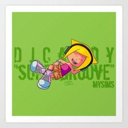 DJ Candy as Bulma (Dragon Ball) Art Print