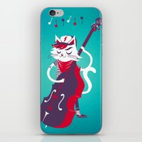 bass iPhone & iPod Skins featuring Double Bass by karolindie