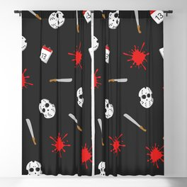 Friday the 13th pattern Blackout Curtain