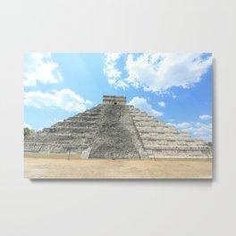 Mayan Pyramid Metal Print