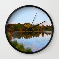 weed Wall Clocks featuring Weed Orchard by NaturallyJess
