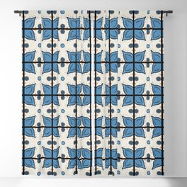 Seaside Tile Blackout Curtain