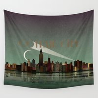gotham Wall Tapestries featuring Gotham City by WyattDesign