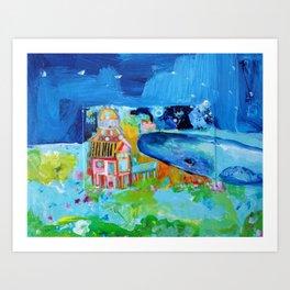 Whale at Joppa Flats Art Print