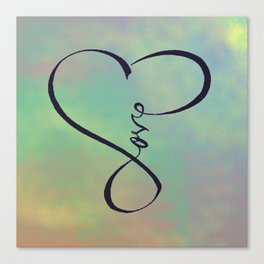 Love in my heart Canvas Print
