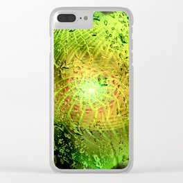 und viridis guttas twirls Clear iPhone Case
