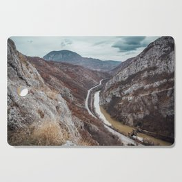 Beautiful photo of the canyon in Serbia, with river and the highway in the middle Cutting Board