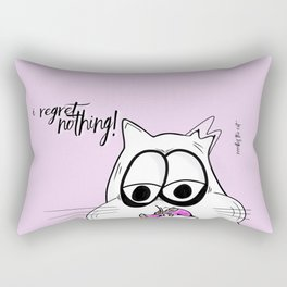 Noodles the Cat regrets nothing! Rectangular Pillow