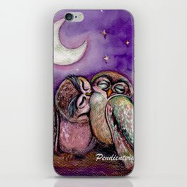 Owls in love iPhone Skin