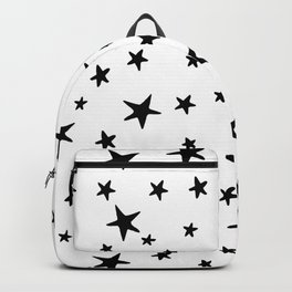 Stars - Black on White Backpack