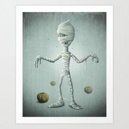 Halloween Mummy Art Print