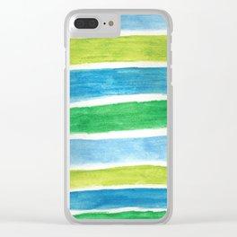 Sea Stripes Clear iPhone Case