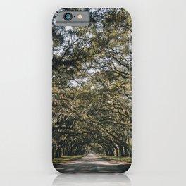 Wormsloe Live Oak Avenue - Savannah II iPhone Case
