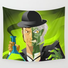 doctor jekyll and mister hyde monster tranformation with green potion Wall Tapestry