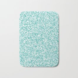 Tiny Spots - White and Verdigris Bath Mat