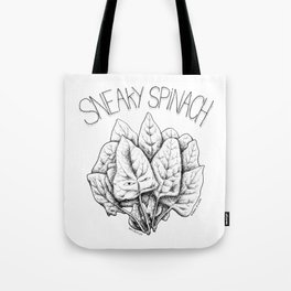 Sneaky Spinach Tote Bag