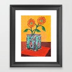 Two Daisies Framed Art Print