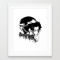 samurai champloo Framed Art Prints featuring samurai grunge by BradixArt