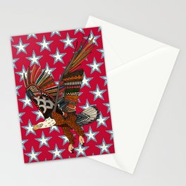 USA eagle red Stationery Cards