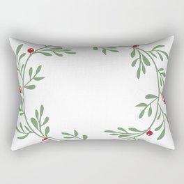 botanical circle frame Rectangular Pillow