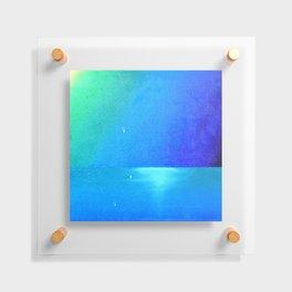 Ocean & Waterdrops / Oil Painting Floating Acrylic Print