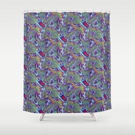 SnozzBerries Psychedelic Fractal Shower Curtain