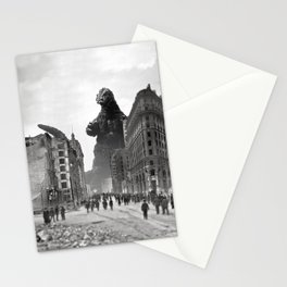 Old Time Godzilla in San Francisco Stationery Cards