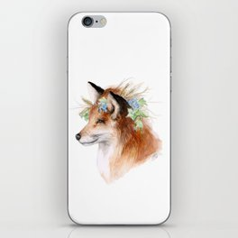 Flower Crowned Fox iPhone Skin