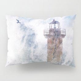 Storm in the lighthouse Pillow Sham